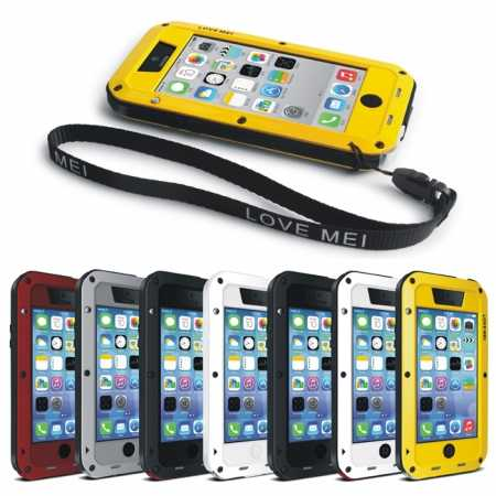 Rugged Shockproof Waterproof Protective Metal Case for iPhone 5C