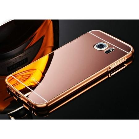 Luxury Metal Aluminum Frame&Mirror Acrylic Case Cover For Samsung Galaxy S6 S7 S7 Edge S8 S8 Plus
