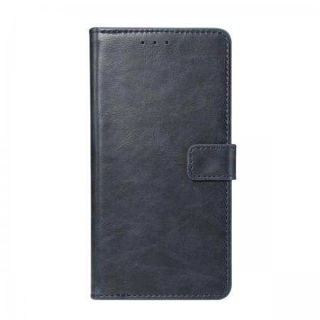 Crazy Horse Leather Flip Case Wallet With Card Holder for Huawei P20 - Dark Blue